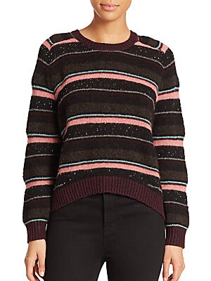 Ramona Striped Wool-Blend Sweater