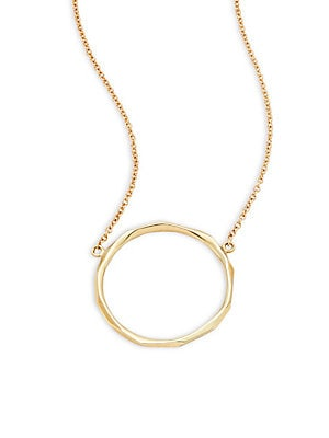 18K Yellow Gold Pendant Necklace