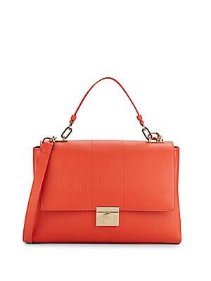 Top Handle Mini Leather Shoulder Bag