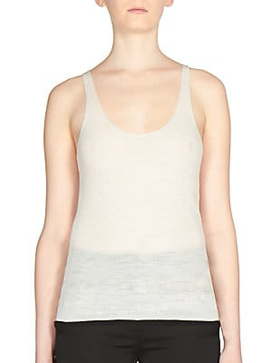 Ribbed Wool Tank Top