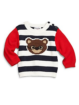 Baby's Striped Cotton Sweater