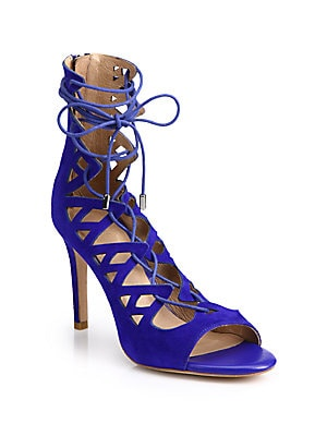 Quinn Suede Lace-Up Sandals