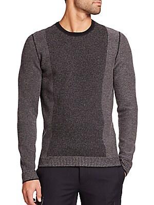 Contrast-Stripe Wool & Cashmere Sweater