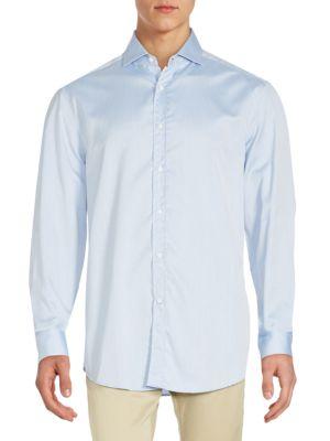 Regular-Fit Solid Cotton Sportshirt Brunello Cucinelli