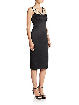 marc jacobs female crossstrap pencil dress