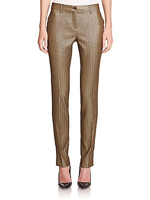 Metallic Herringbone Pants