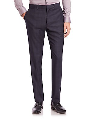 Marlo Plaid Wool Pants