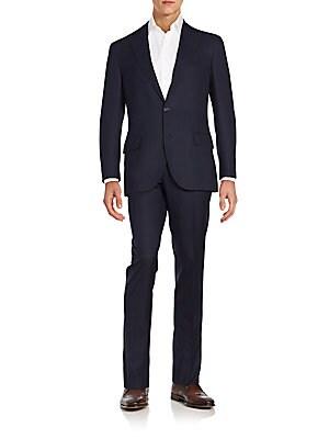 Wool & Silk Windowpane Suit