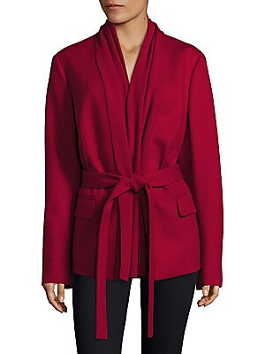 Wool Cashmere Blend Draped Jacket