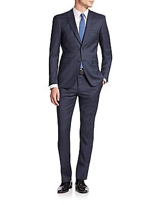 Checked Virgin Wool Suit