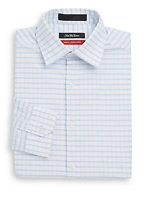 Trim-Fit Windowpane Check Dress Shirt