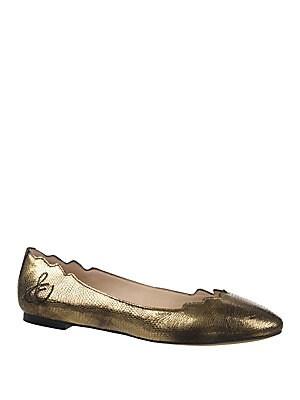 Augusta Round-Toe Slip-On Ballet Flats