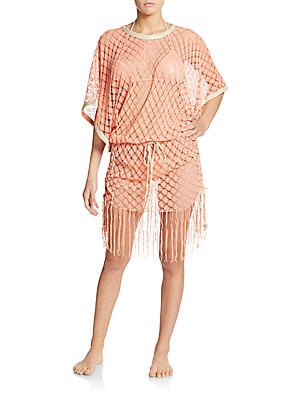 South Beach Open-Knit Coverup