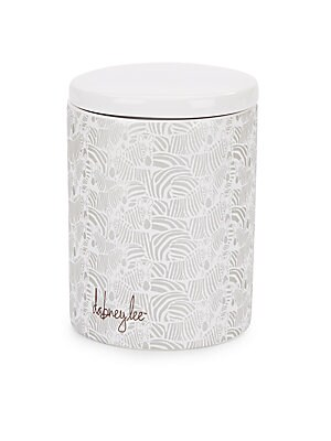 Zebra-Print Ceramic Jar