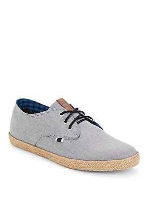 Jenson Jute-Trimmed Canvas Sneakers