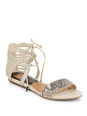 Addison Snake-Print Sandals
