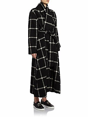 Windowpane Blanket Coat