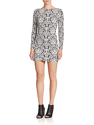 Click here for Printed Scoopback Mini Dress prices