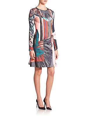 Autumn Striped Jersey A-line Dress