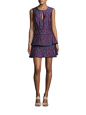 Layered Skirt Tie-Dye Dress