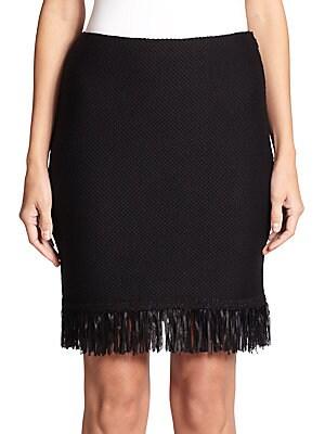 Fringe Knit Pencil Skirt