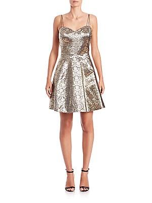 Jacquard Cocktail Dress