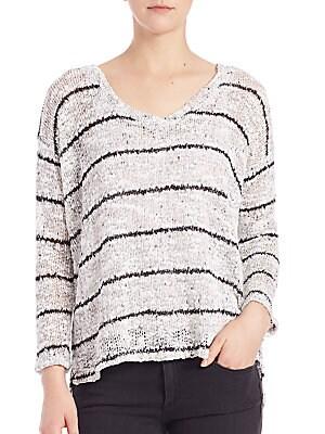 Broome Striped V-Neck Sweater