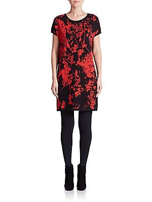 Alix Printed Merino Wool Shift Dress