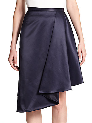 Draped Satin Skirt