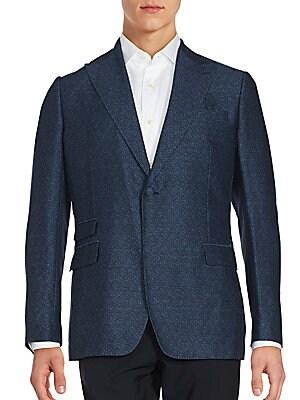 Cotton-Blend Long Sleeve Jacket
