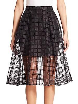 Window Lace A-Line Skirt