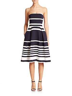 Strapless Positano-Stripe Dress