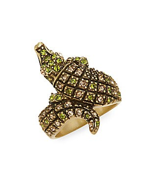Crocodile Crystal Ring