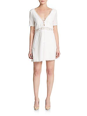 Grazie Lace-Trimmed Cotton Dress