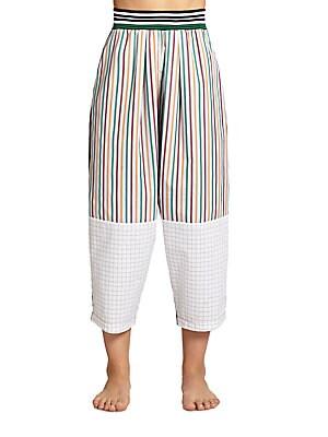 Geometric-Print Cotton Pants