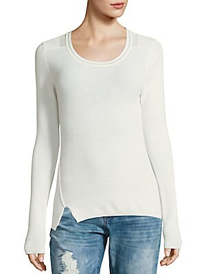 Bay Sheer-Detail Sweater
