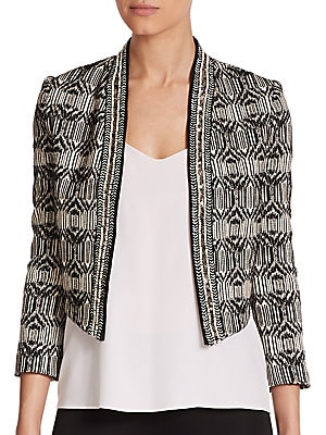 Tribal Jacquard Cropped Jacket