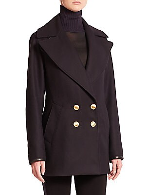 Token Double-Breasted Peacoat
