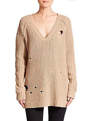 Dusk Distressed Knit Tunic Sweater