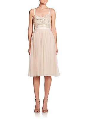 Coppelia Embellished Tulle Dress