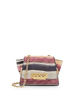 Mini Eartha Striped Leather Shoulder Bag