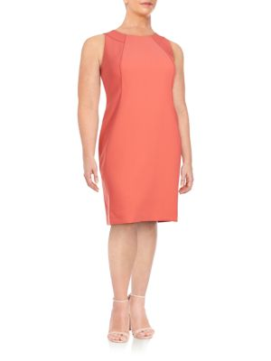 Alora Stretch Cotton Shift Dress Lafayette 148 New York, Plus Size