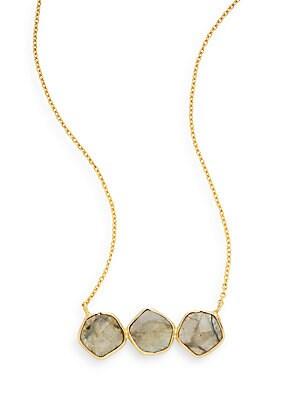 Three-Stone Pendant Necklace