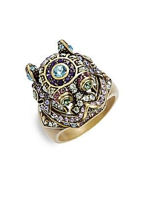 Black Diamond Tanzanite Aquamarine Eremite Ring