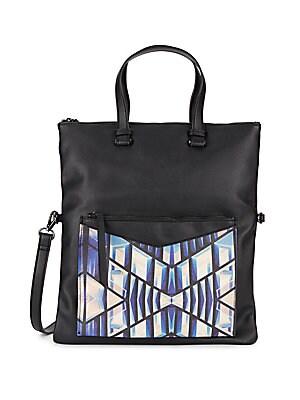 Convertible Faux-Leather Shoulder Bag