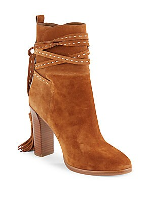Palmer Suede Tassel Ankle Boots