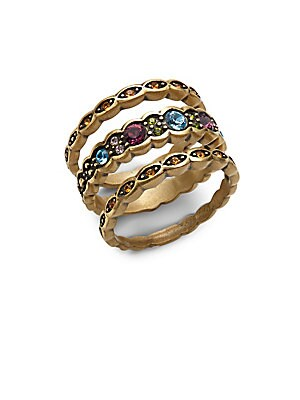 Nevette Goldtone Stackable Ring