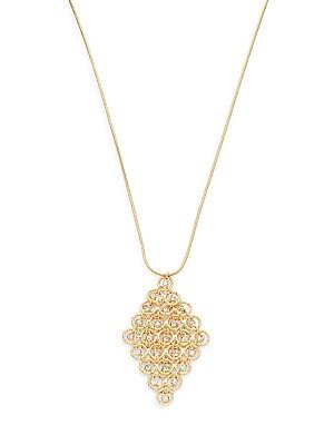 Crystal Loop Pendant Necklace