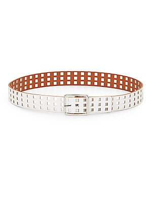 Reversible Saffiano Faux-Leather Belt