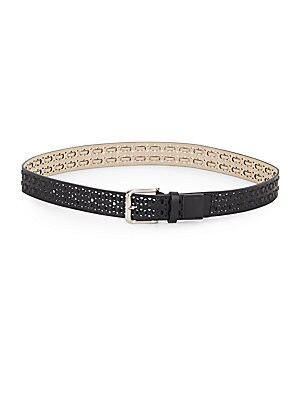 Perforated Lace-Detail Belt